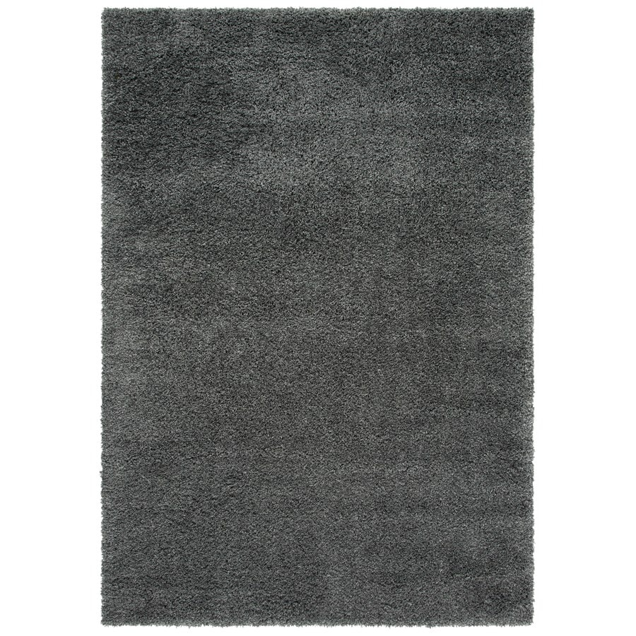 Safavieh California Shag Dark Gray Indoor Area Rug (Common: 8 x 10; Actual: 8-ft W x 10-ft L)