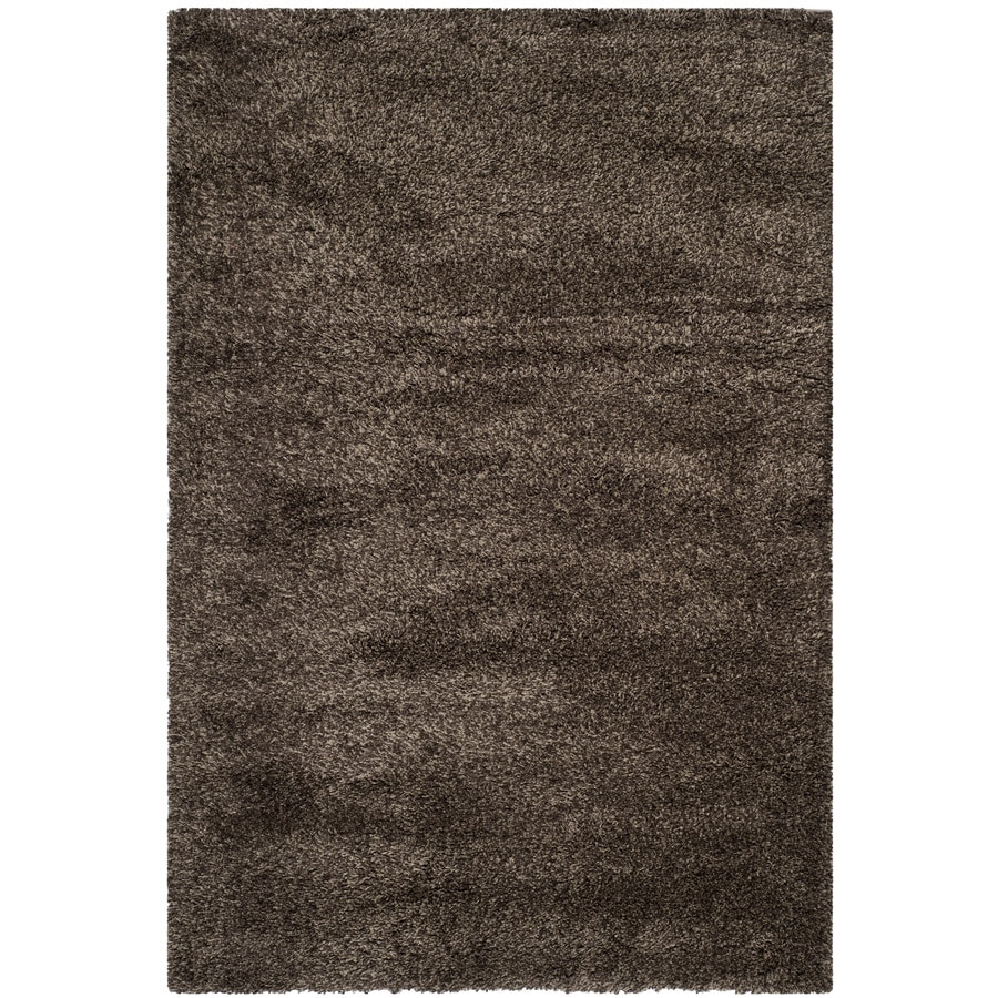 Safavieh California Shag Mushroom Rectangular Indoor Machine-Made Area Rug (Common: 4 x 6; Actual: 4-ft W x 6-ft L)
