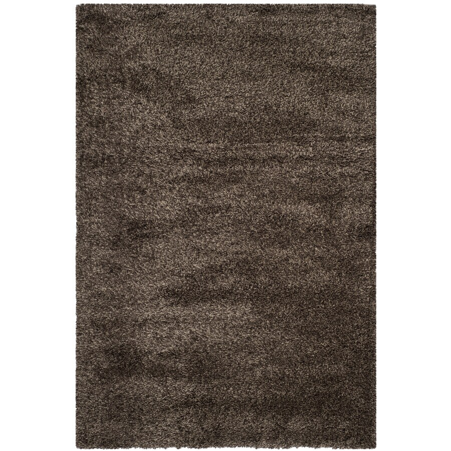 Safavieh California Shag Mushroom Rectangular Indoor Machine-Made Area Rug (Common: 5 x 7; Actual: 5.25-ft W x 7.5-ft L)