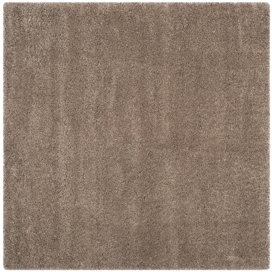 Safavieh California Shag Taupe Square Indoor Area Rug (Common: 7 x 7; Actual: 6.7-ft W x 6.7-ft L)