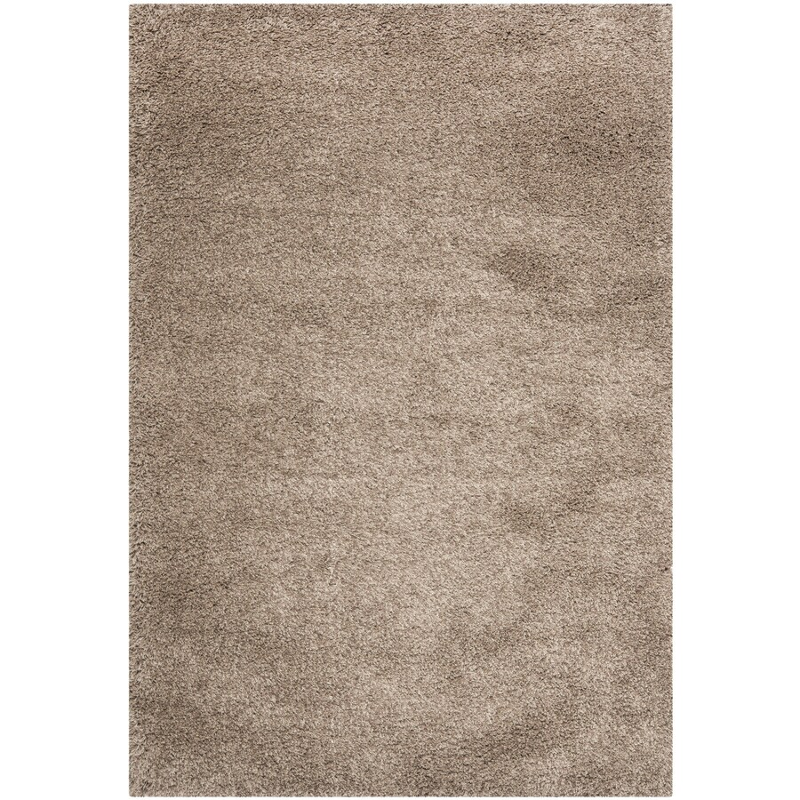 Safavieh California Shag Taupe Rectangular Indoor Machine-made Area Rug (Common: 8 x 12; Actual: 8.5-ft W x 12-ft L)