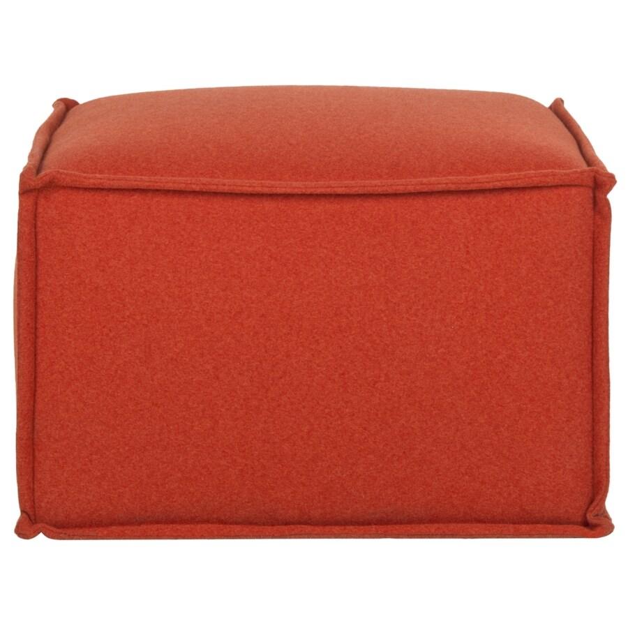 Safavieh Elaine Casual Burnt Orange Pouf Ottoman