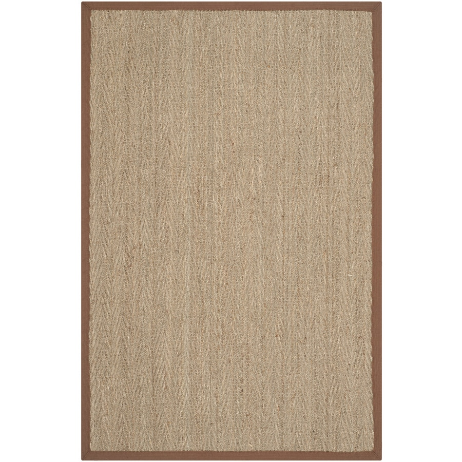 Safavieh Natural Fiber Montauk Natural/Brown Indoor Coastal Area Rug (Common: 4 x 6; Actual: 4-ft W x 6-ft L)