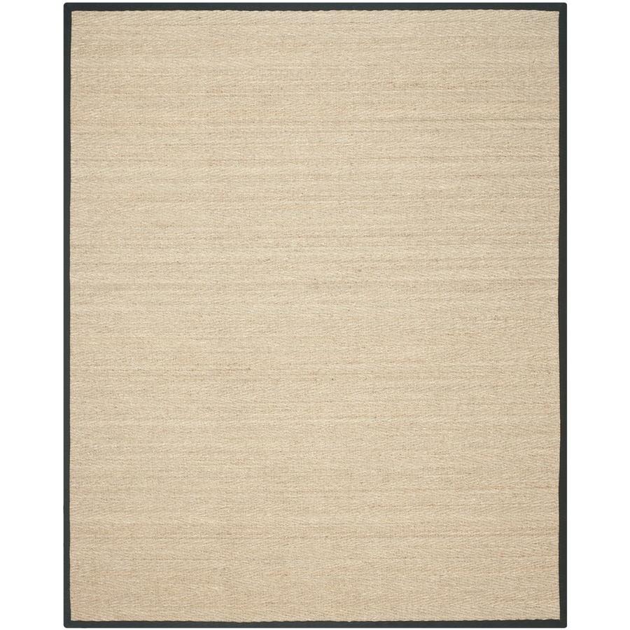 Safavieh Natural Fiber Montauk Natural/Black Indoor Coastal Area Rug (Common: 8 x 10; Actual: 8-ft W x 10-ft L)