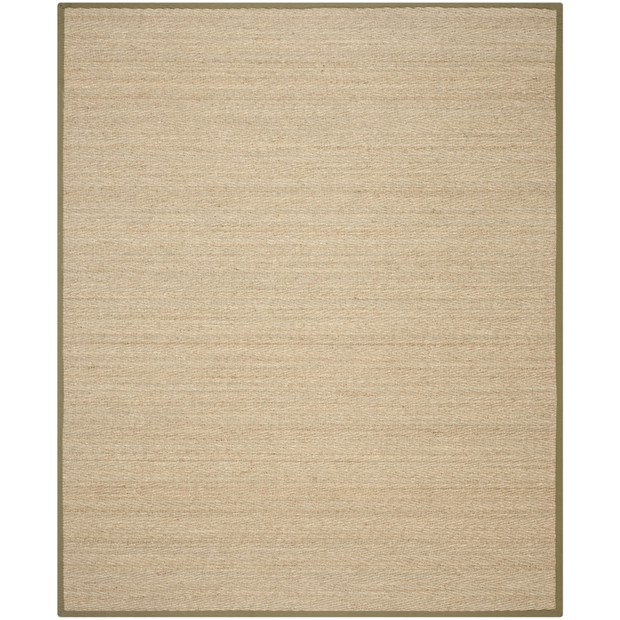 Safavieh Natural Fiber Montauk Natural/Olive Indoor Coastal Area Rug (Common: 8 x 10; Actual: 8-ft W x 10-ft L)