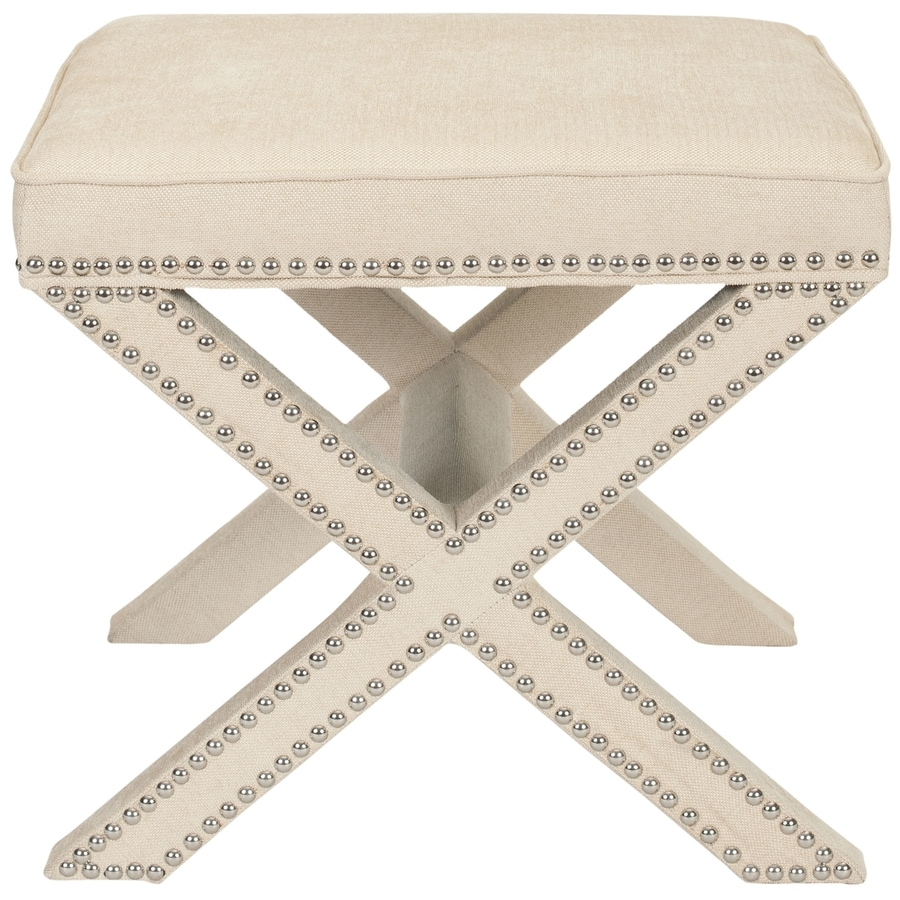 Safavieh Mercer Taupe Rectangle Ottoman