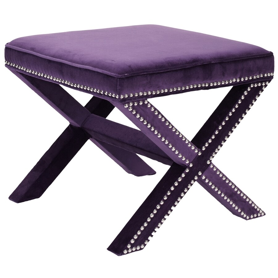 Safavieh Mercer Plum Rectangle Ottoman