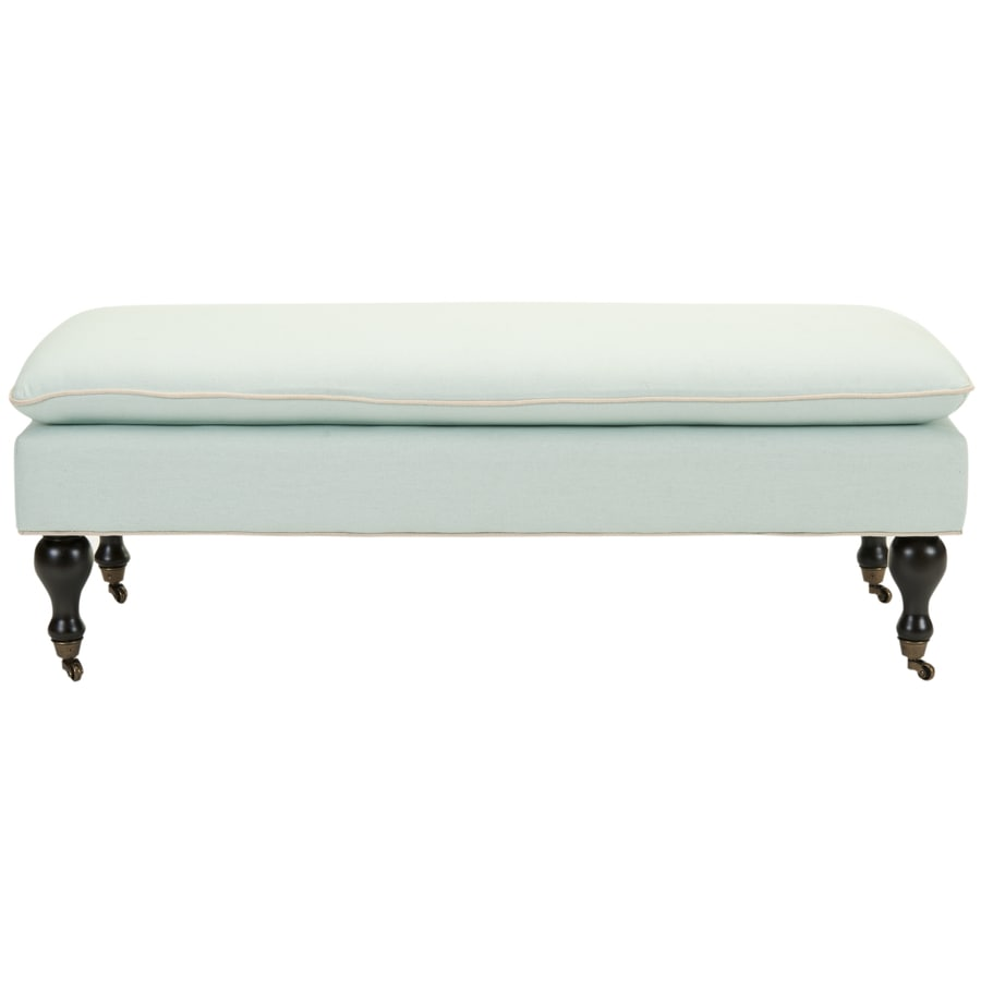 Safavieh Hampton Transitional Robins Egg Blue Accent Bench
