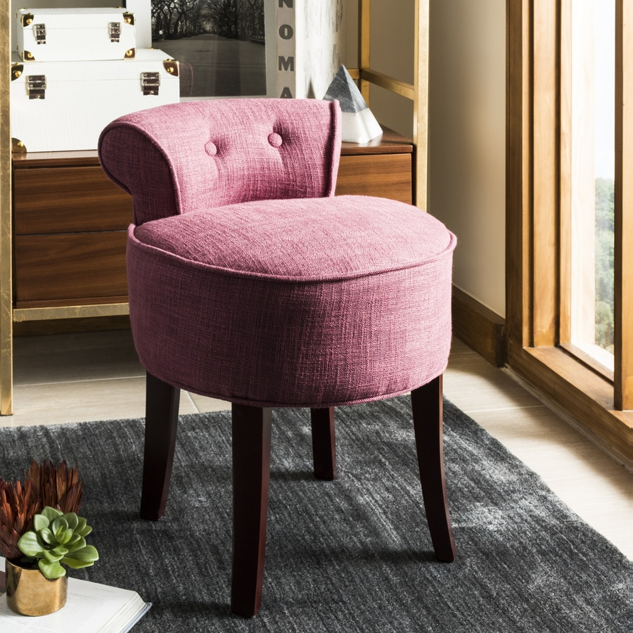 Safavieh 22 8 In H Pink Round Makeup Vanity Stool At Lowes Com