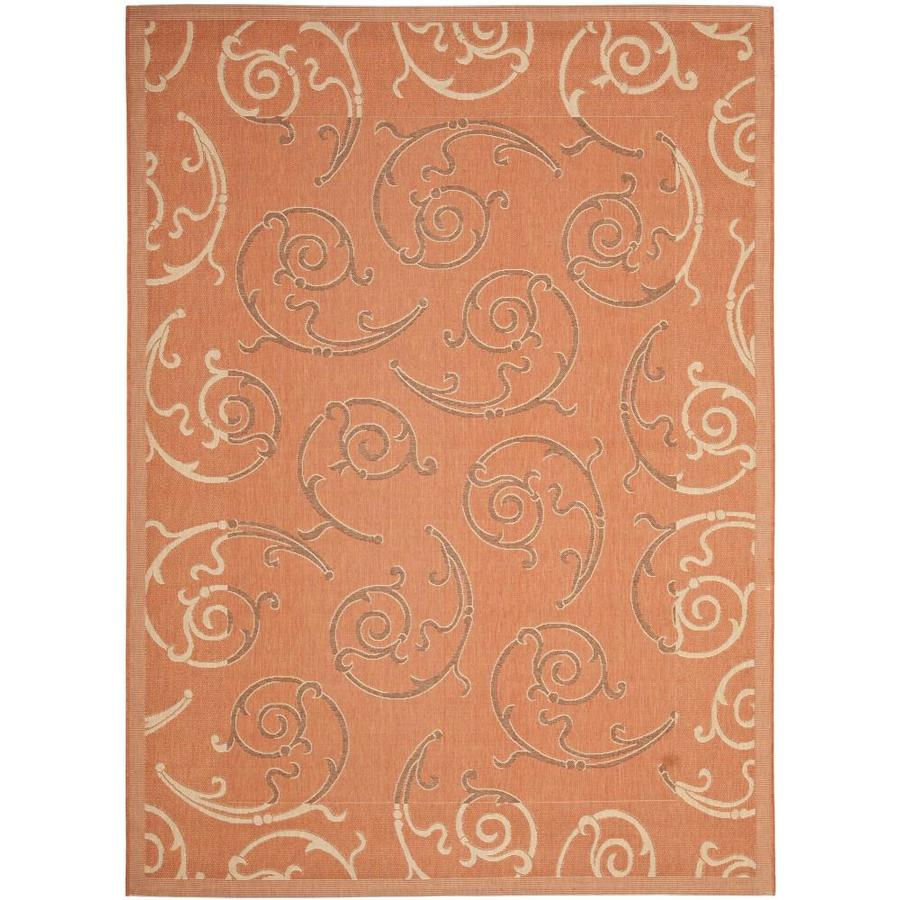 Shop Safavieh Courtyard Gibson Terracotta Cream Indoor