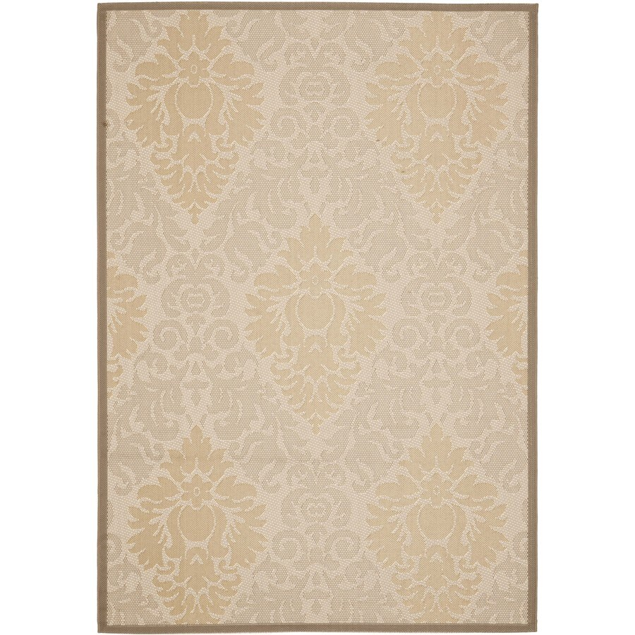 Safavieh Courtyard Rectangular Cream Transitional Indoor/Outdoor Woven Area Rug (Common: 4-ft x 6-ft; Actual: 4-ft x 5.58-ft)
