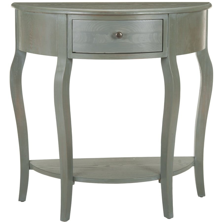 Shop safavieh jan ash gray pine console table at for Sofa table grey