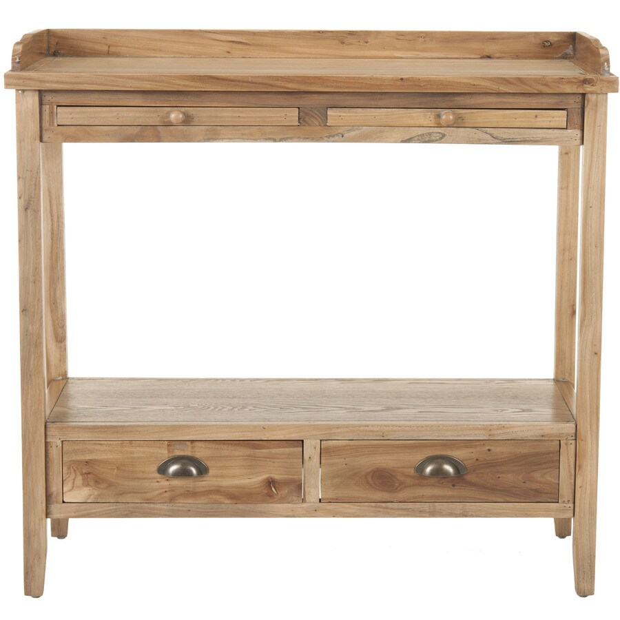 Shop safavieh peter oak elm console table at lowes safavieh peter oak elm console table geotapseo Image collections