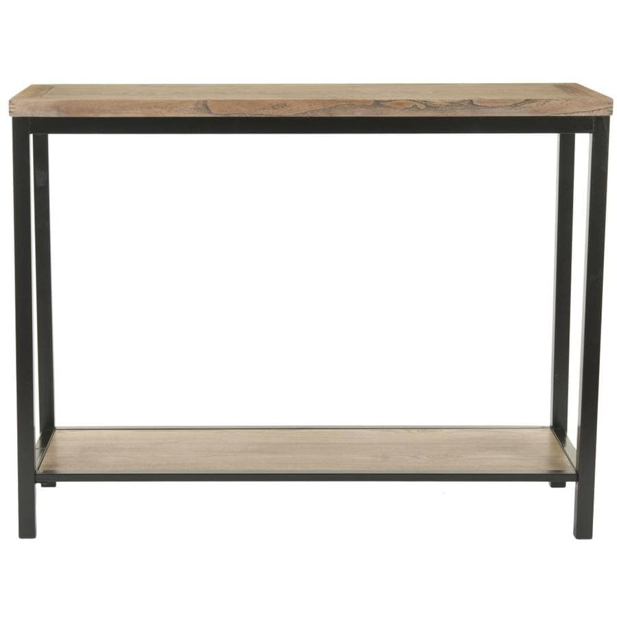 Safavieh American Home Dark Brown Elm Rectangular Console and Sofa Table