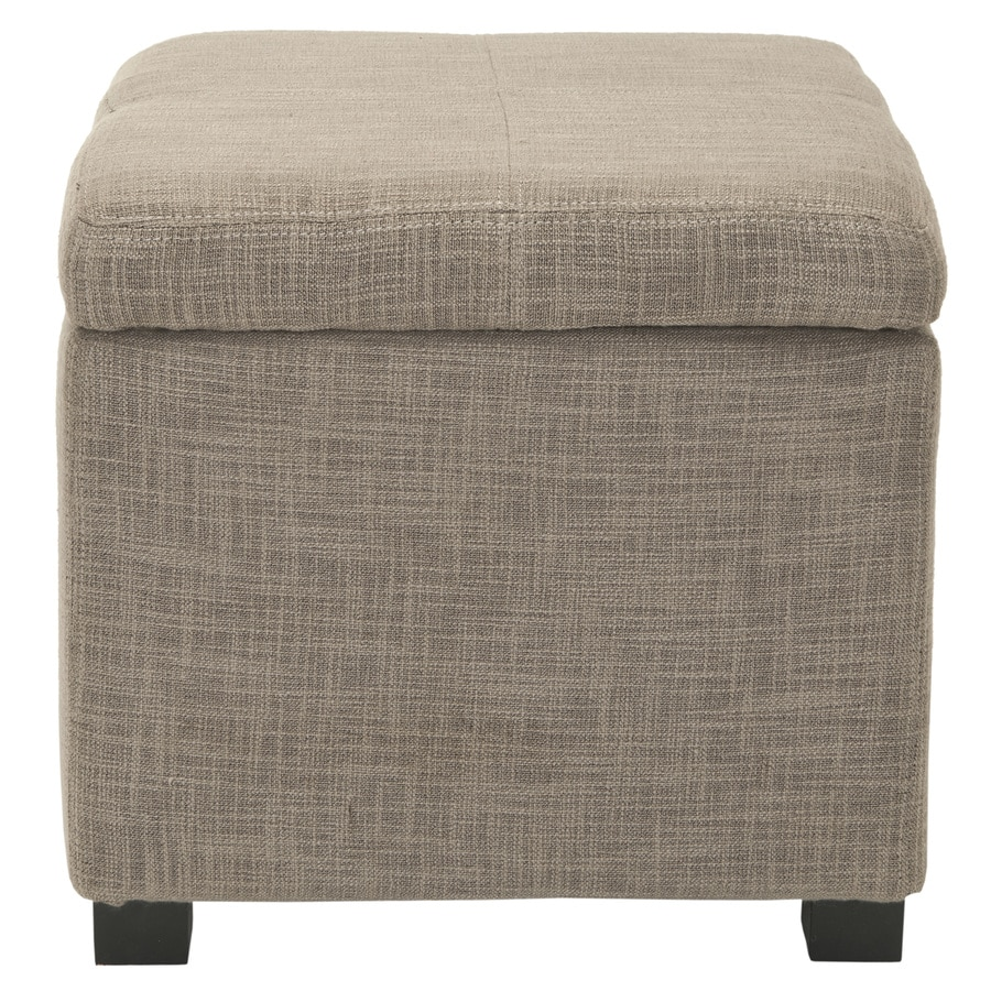 Safavieh Hudson Gray Square Storage Ottoman