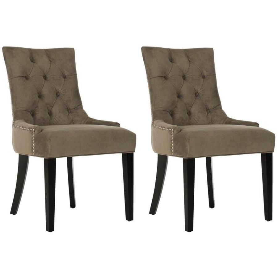 Safavieh Set of 2 Mercer Mole Grey Side Chairs