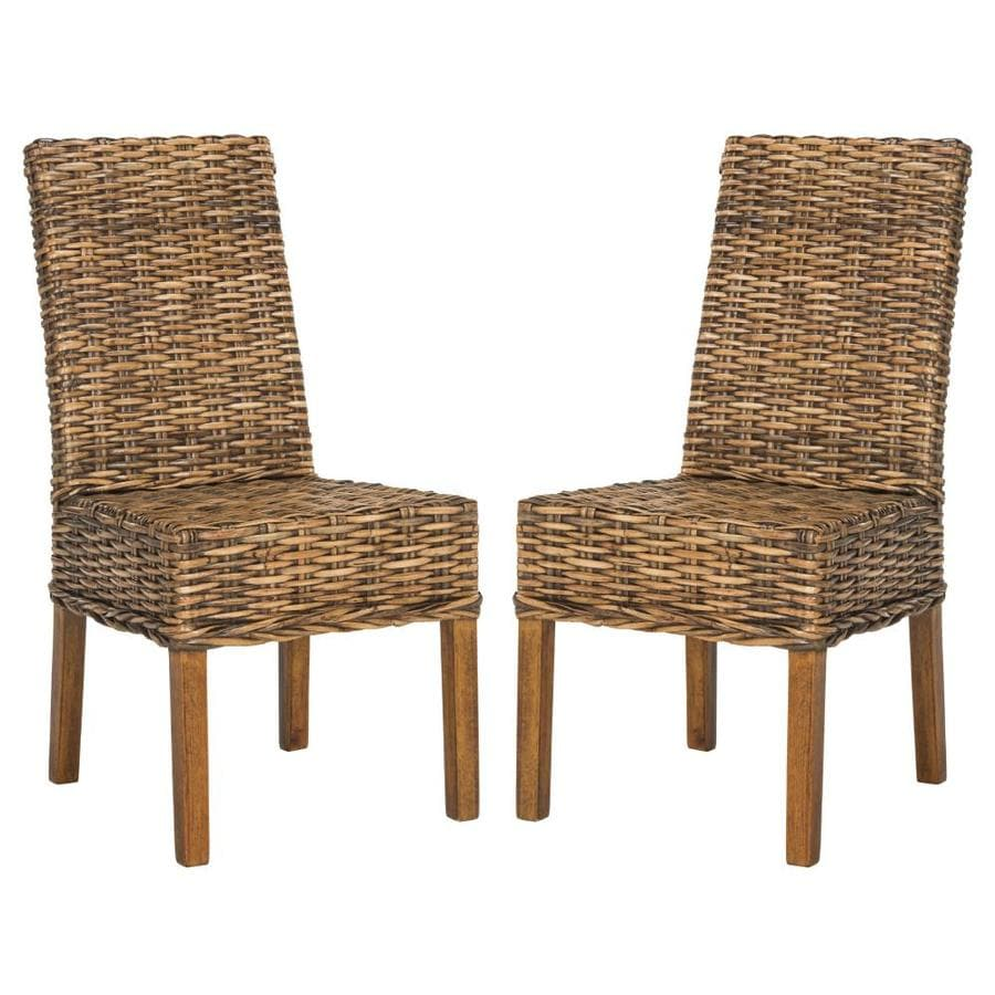 Safavieh Set of 2 Sanibel Coastal Brown Accent Chairs