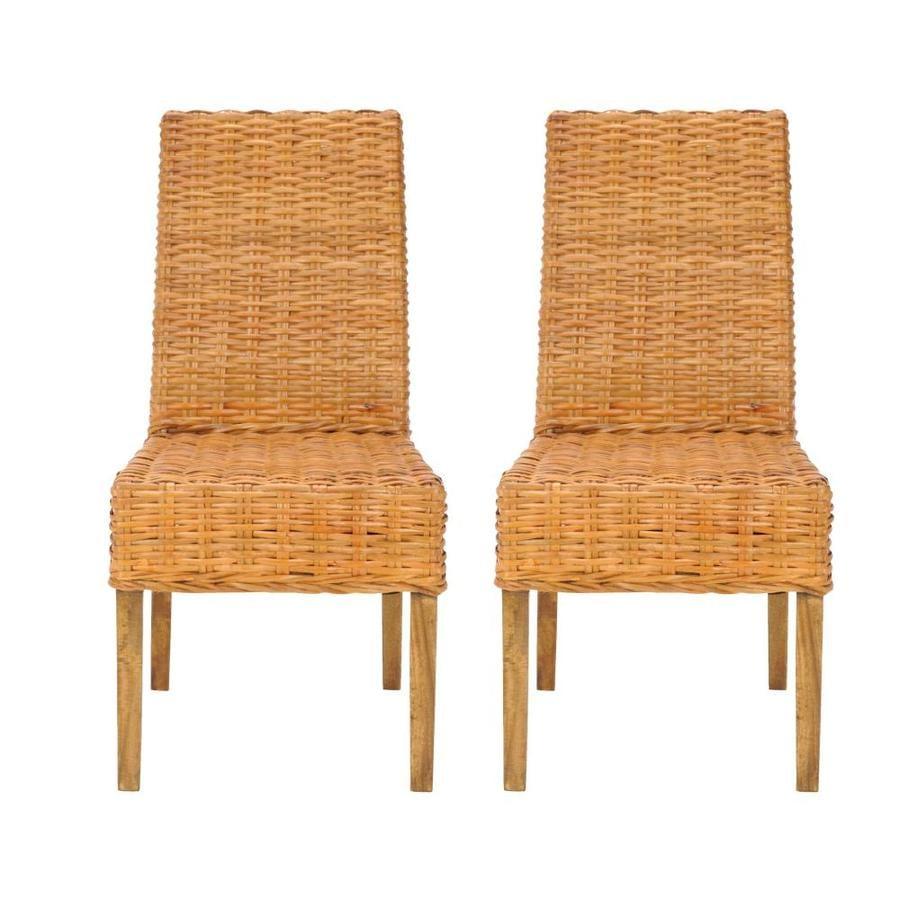 Safavieh Set of 2 Fox Honey Accent Chairs