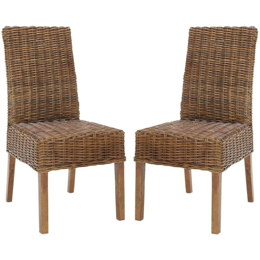 Safavieh Set of 2 Fox Light Brown Accent Chairs