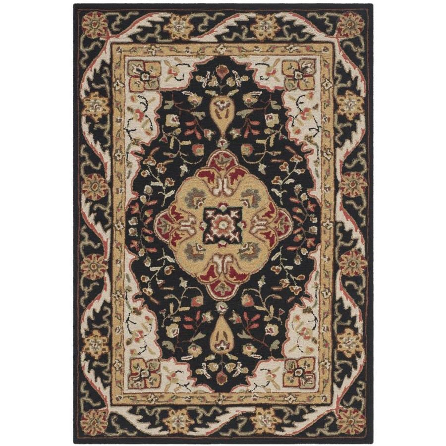 Safavieh Easy Care Bridgeport 4 X 6 Black Creme Indoor Floral Botanical Oriental Handcrafted Area Rug In The Rugs Department At Lowes Com