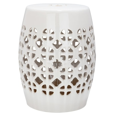 Remarkable Safavieh 18 5 In Cream Ceramic Barrel Chinese Garden Stool Pabps2019 Chair Design Images Pabps2019Com