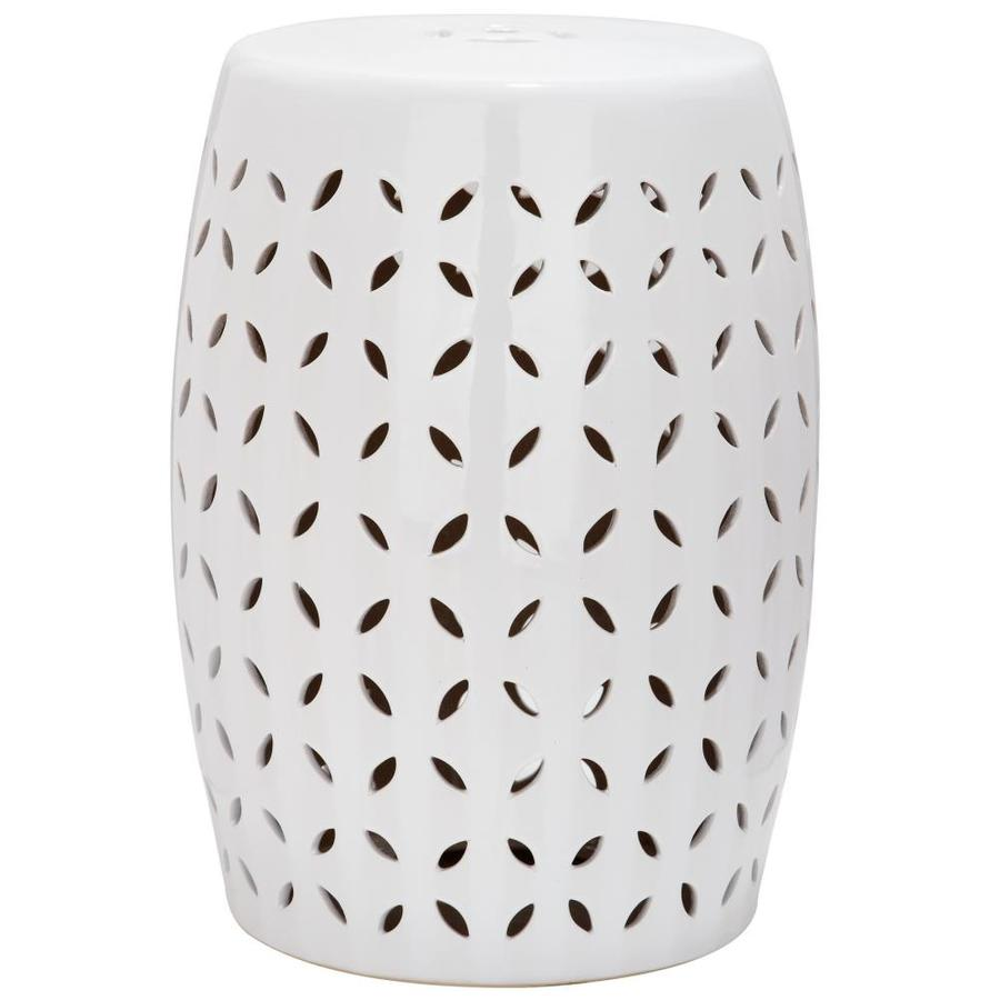 Superieur Safavieh 18.5 In White Ceramic Barrel Garden Stool