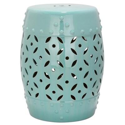 Magnificent 18 5 In Robins Egg Blue Ceramic Barrel Garden Stool Unemploymentrelief Wooden Chair Designs For Living Room Unemploymentrelieforg