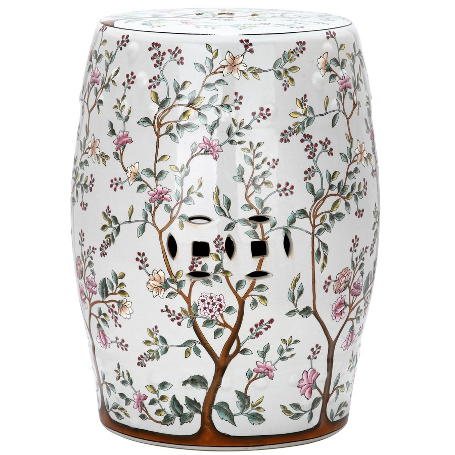 Shop Safavieh 185 in White Ceramic Barrel Chinese Garden Stool at