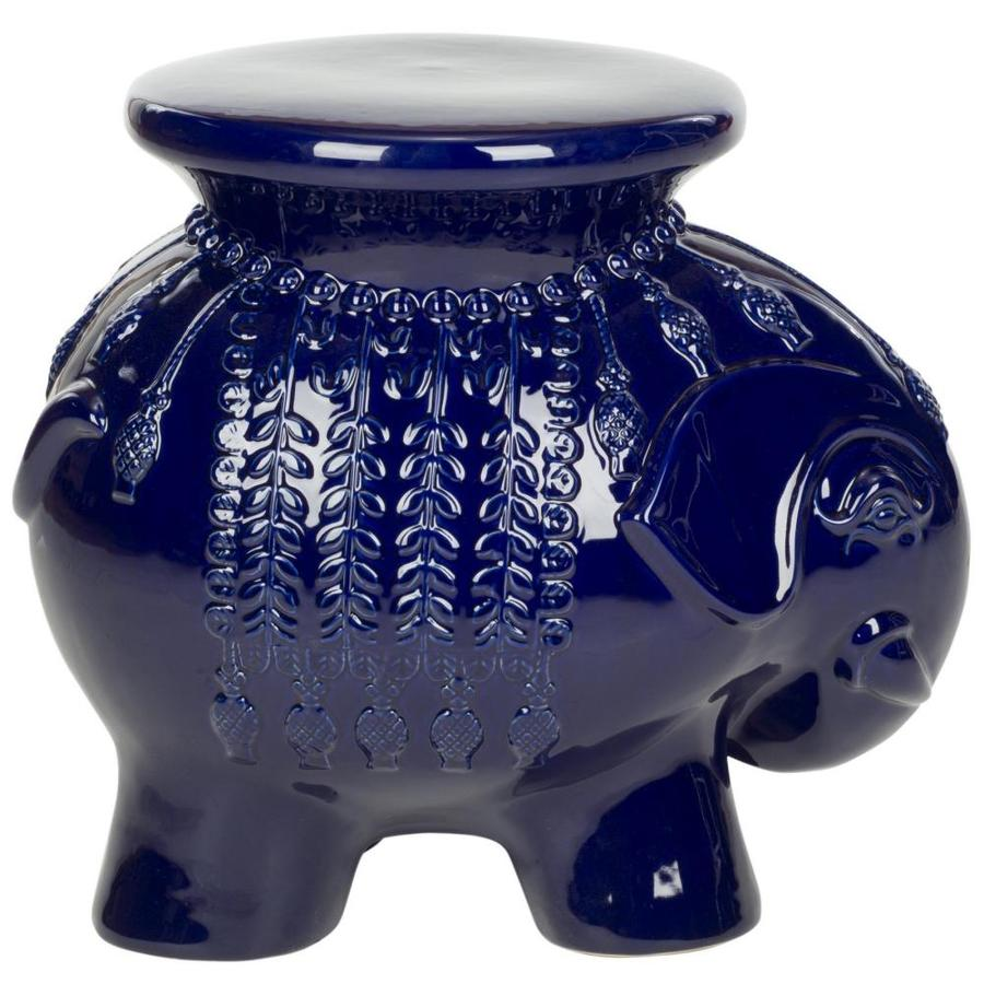Shop Safavieh 168 in Navy Ceramic Elephant Garden Stool at Lowescom