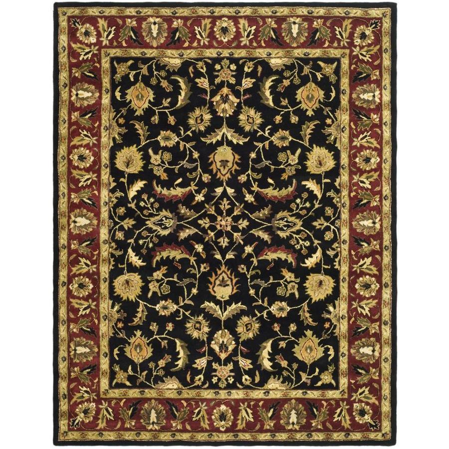 Safavieh Heritage Shiras Black/Red Rectangular Indoor Handcrafted Oriental Area Rug (Common: 9 x 12; Actual: 9-ft W x 12-ft L)
