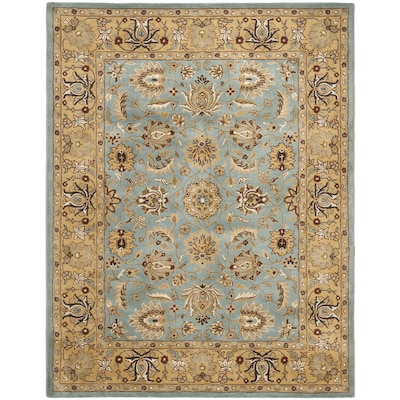 Safavieh Heritage Tekke 9 X 12 Blue Gold Indoor Floral Botanical Oriental Handcrafted Area Rug In The Rugs Department At Lowes Com