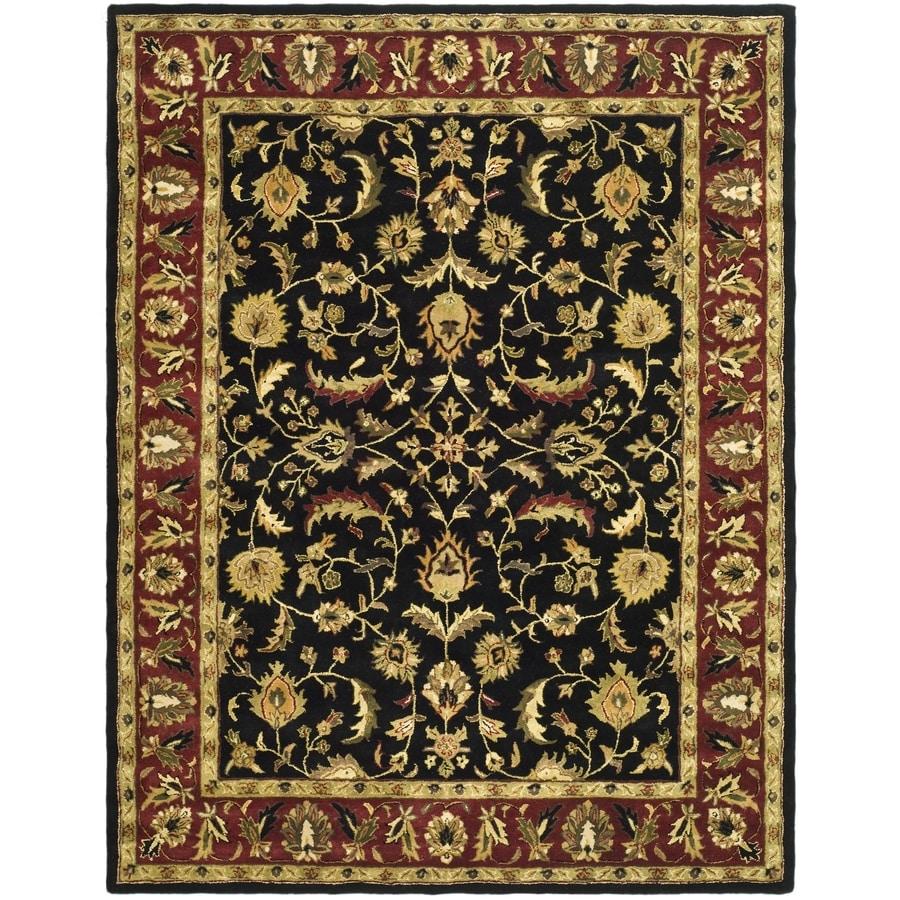 Safavieh Heritage Shiras Black/Red Indoor Handcrafted Oriental Area Rug (Common: 12 x 18; Actual: 12-ft W x 18-ft L)