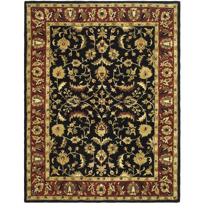 Safavieh Heritage Shiras 12 X 18 Black Red Indoor Floral Botanical Oriental Handcrafted Area Rug In The Rugs Department At Lowes Com