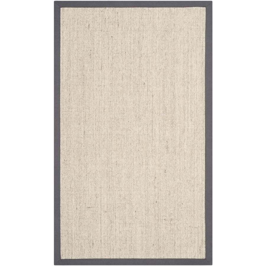 Safavieh Natural Fiber Saltaire Marble/Gray Rectangular Indoor Machine-made Coastal Throw Rug (Common: 3 x 5; Actual: 3-ft W x 5-ft L)