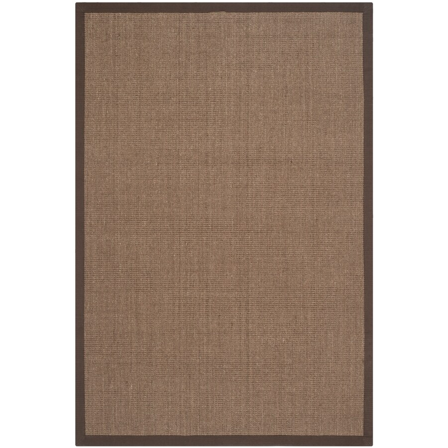 Safavieh Natural Fiber Saltaire Brown Indoor Coastal Area Rug (Common: 6 x 9; Actual: 6-ft W x 9-ft L)