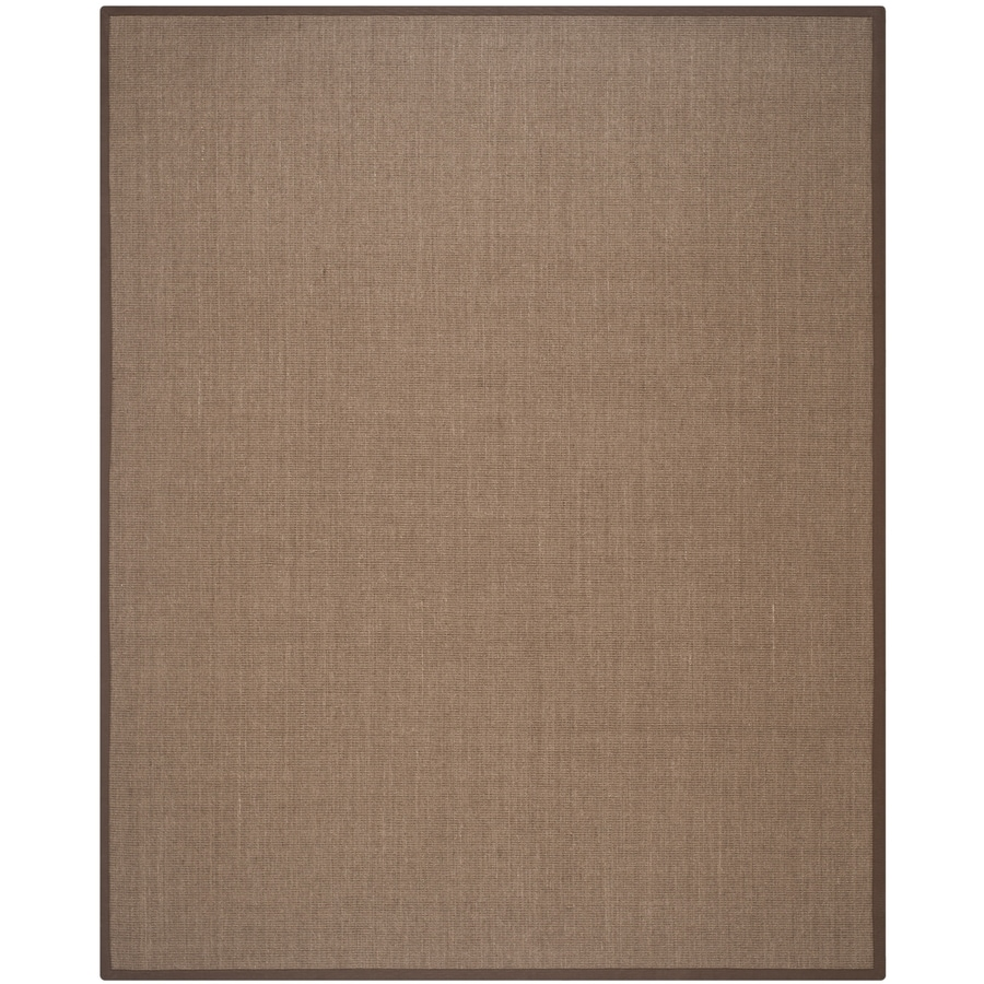 Safavieh Natural Fiber Saltaire Brown/Brown Rectangular Indoor Machine-Made Coastal Area Rug (Common: 8 x 10; Actual: 8-ft W x 10-ft L)