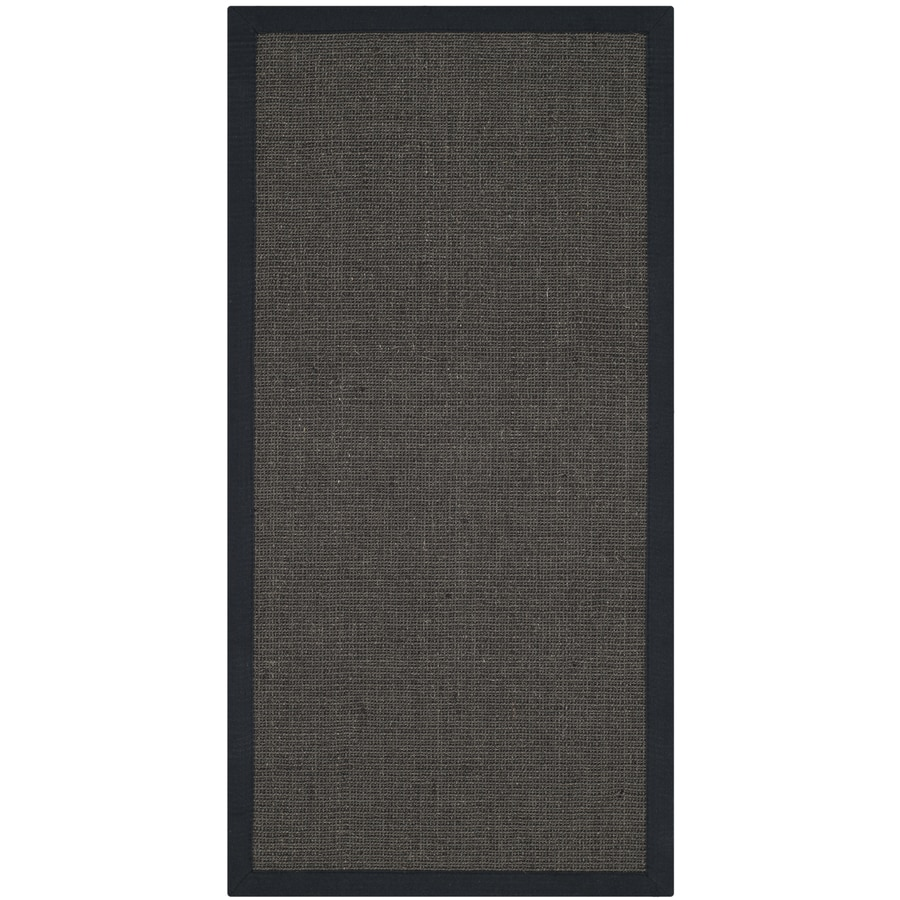 Safavieh Natural Fiber Saltaire Charcoal/Charcoal Rectangular Indoor Machine-made Coastal Area Rug (Common: 4 x 6; Actual: 4-ft W x 6-ft L)