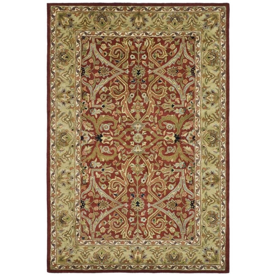 Safavieh Heritage Red and Gold Rectangular Indoor Tufted Area Rug (Common: 4 x 6; Actual: 48-in W x 72-in L x 0.5-ft Dia)