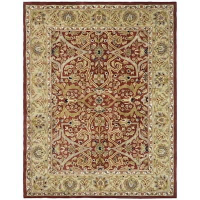 Safavieh Heritage Tabriz 10 X 14 Red Gold Indoor Floral Botanical Oriental Handcrafted Area Rug In The Rugs Department At Lowes Com