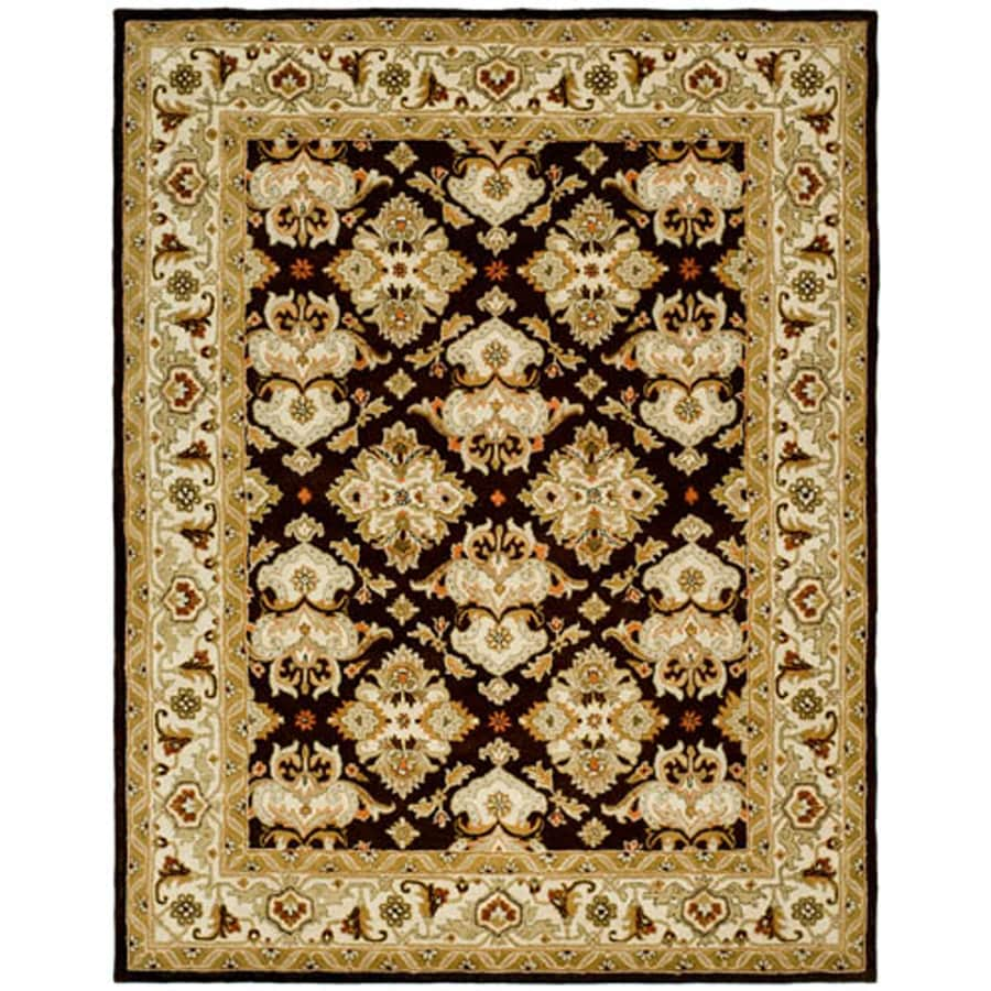 Safavieh Heritage Rectangular Brown Transitional Tufted Wool Area Rug (Common: 10-ft x 14-ft; Actual: 9.5-ft x 13.5-ft)