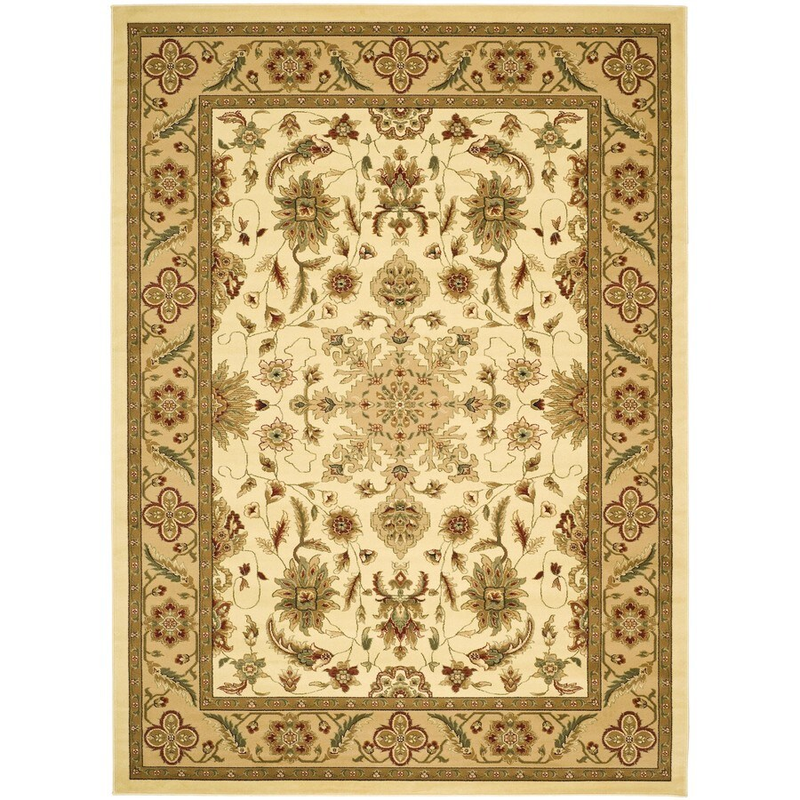 Safavieh Lyndhurst Mashad Ivory/Tan Rectangular Indoor Machine-Made Oriental Area Rug (Common: 6 x 9; Actual: 6-ft W x 9-ft L)