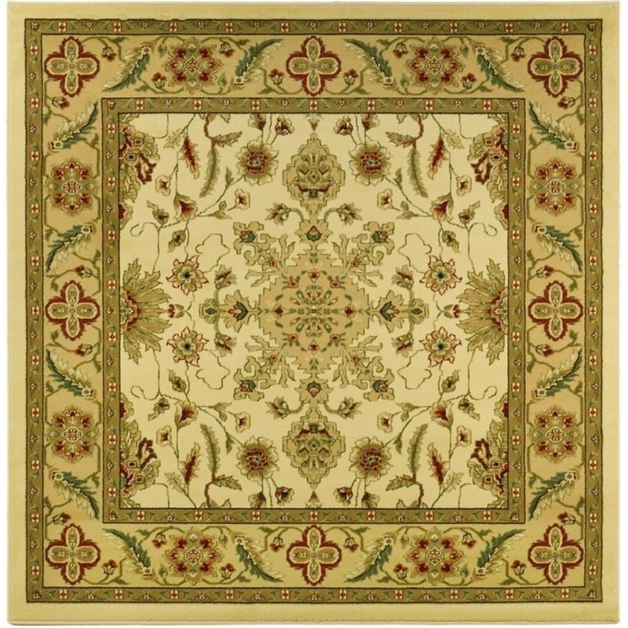 Safavieh Lyndhurst Mashad Ivory/Tan Square Indoor Machine-made Oriental Area Rug (Common: 6 x 6; Actual: 6-ft W x 6-ft L)