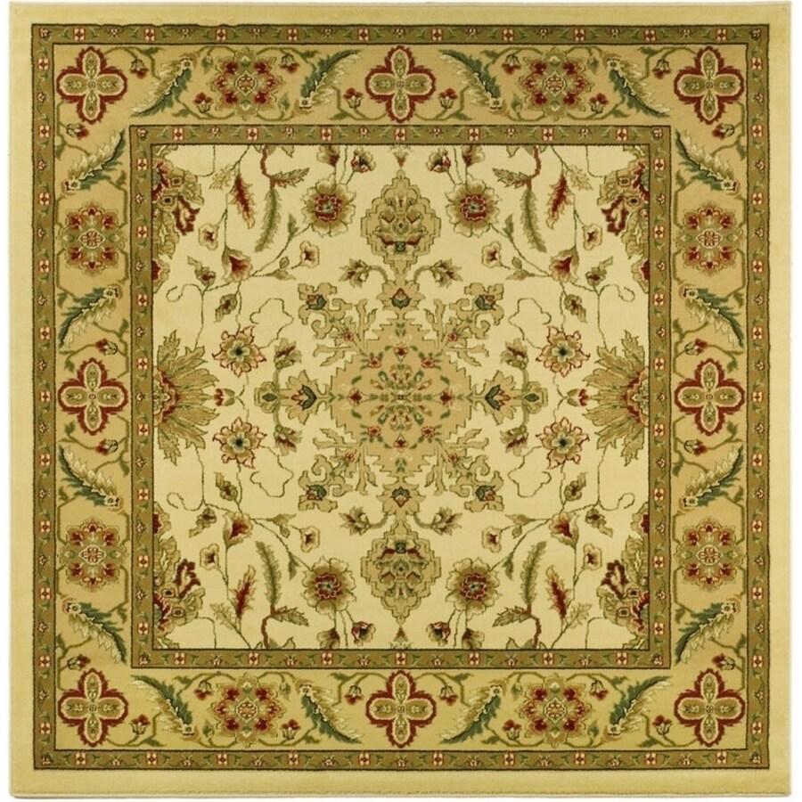 Safavieh Lyndhurst Mashad Ivory/Tan Square Indoor Machine-made Oriental Area Rug (Common: 8 x 8; Actual: 8-ft W x 8-ft L)