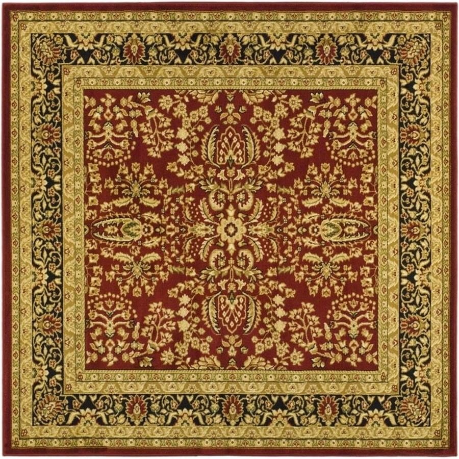 Safavieh Lyndhurst Isphahan Red/Black Square Indoor Machine-made Oriental Area Rug (Common: 6 x 6; Actual: 6-ft W x 6-ft L)