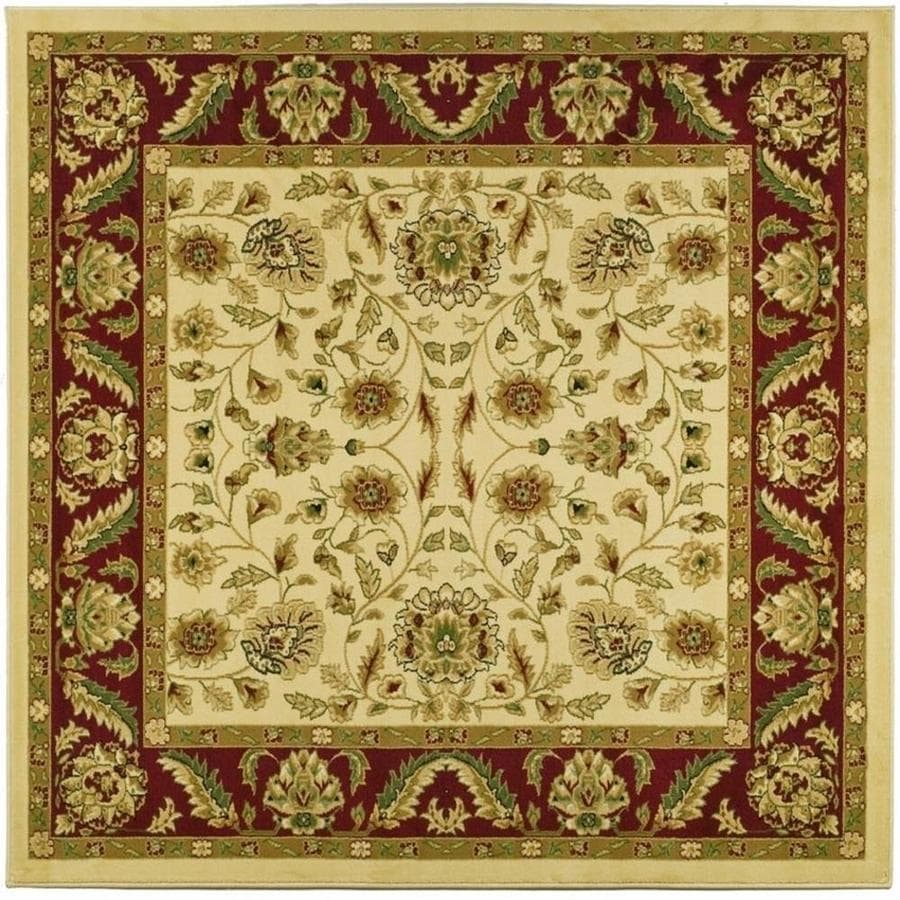 Safavieh Lyndhurst Andre Ivory/Red Square Indoor Oriental Area Rug (Common: 6 x 6; Actual: 6-ft W x 6-ft L)