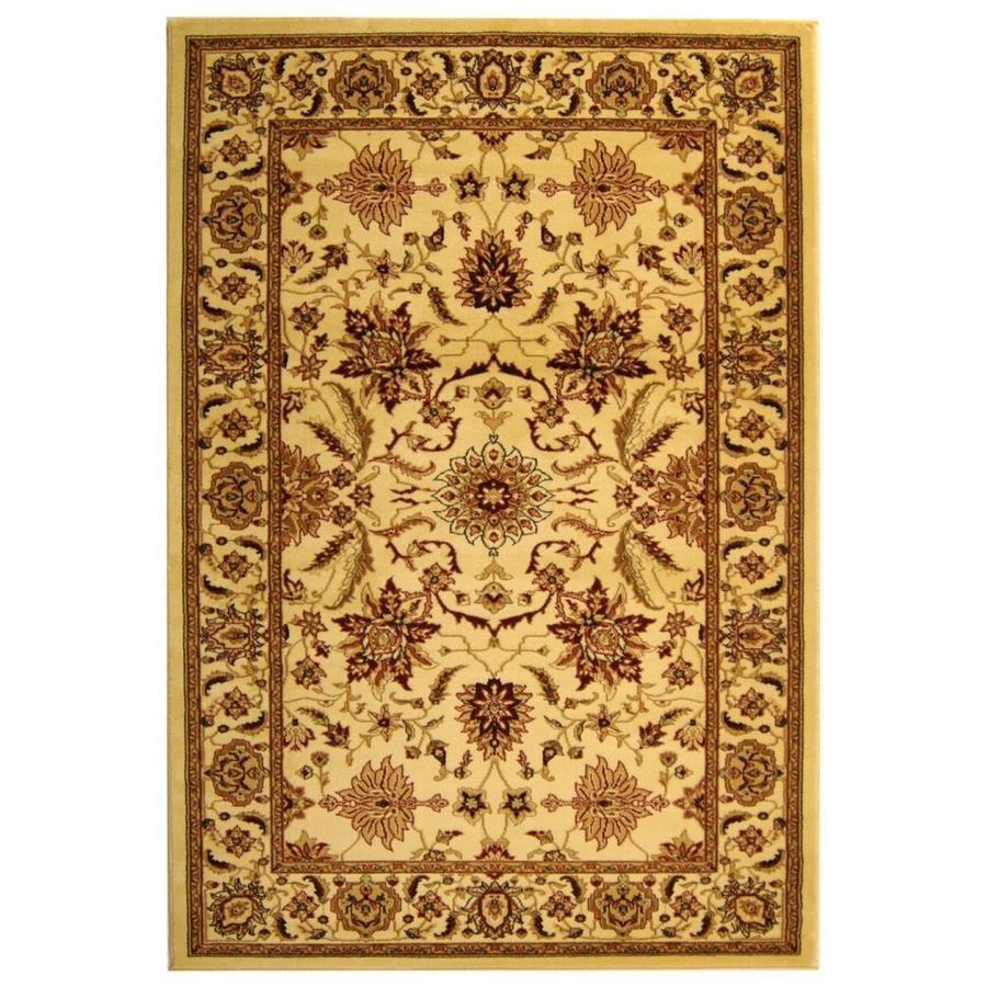 Safavieh Lyndhurst Agra Ivory/Ivory Rectangular Indoor Machine-made Oriental Area Rug (Common: 6 x 9; Actual: 6-ft W x 9-ft L)
