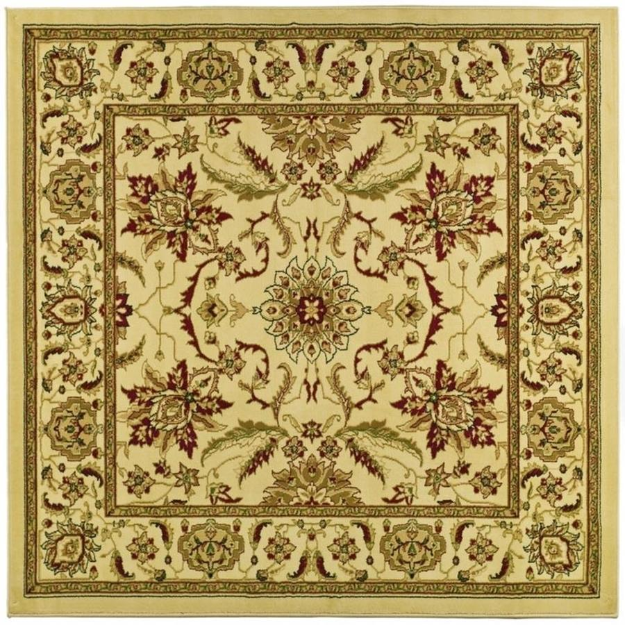 Safavieh Lyndhurst Agra Ivory/Ivory Square Indoor Machine-made Oriental Area Rug (Common: 8 x 8; Actual: 8-ft W x 8-ft L)