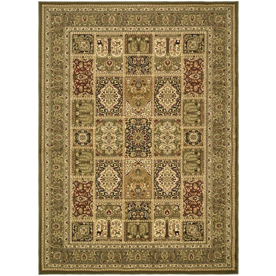 Safavieh Lyndhurst Multicolor and Green Rectangular Indoor Machine-Made Area Rug (Common: 6 x 9; Actual: 72-in W x 96-in L x 0.58-ft Dia)