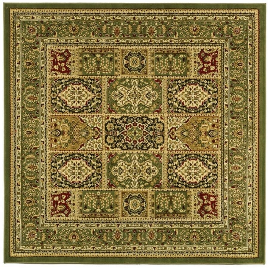 Safavieh Lyndhurst Bolero Multi/Green Square Indoor Machine-made Oriental Area Rug (Common: 8 x 8; Actual: 8-ft W x 8-ft L)
