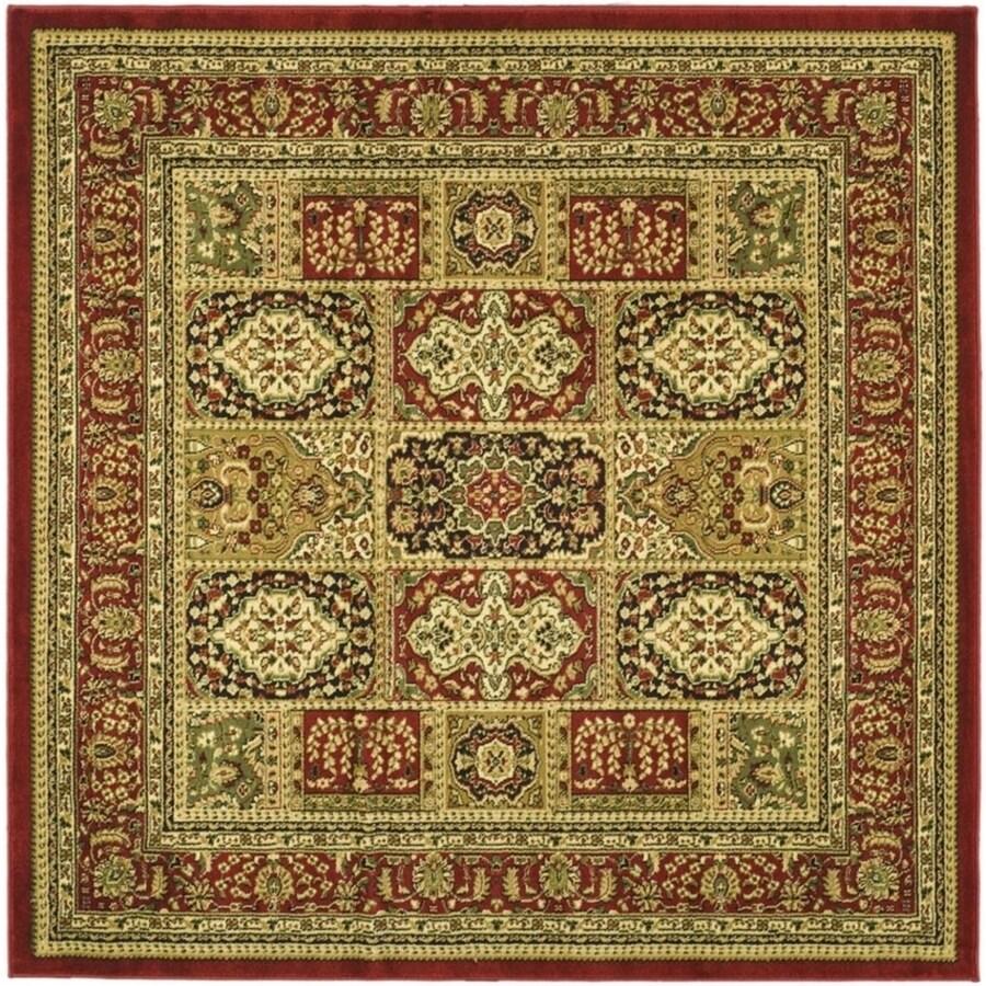 Shop Safavieh Lyndhurst Bolero Multi/Red Square Indoor